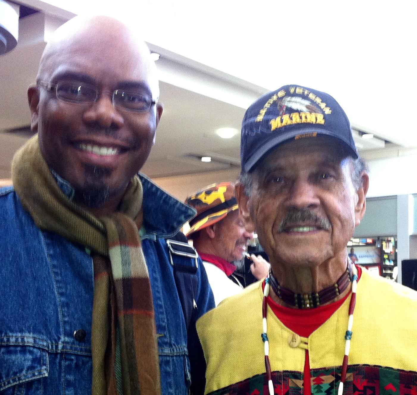 M.E. Hart and Congressional Gold Medal Native Veteran Jimmy Hargrove